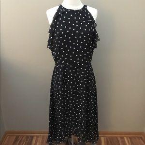 New Elle Black/White Polka Dot Dress